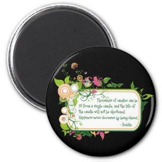 Buddha Single Candle Quote Magnet