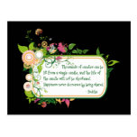Buddha Single Candle Quote Postcards