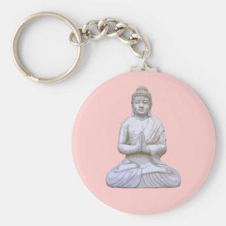 Buddha Sitting ~ Buddhist Buddhism Key Ring