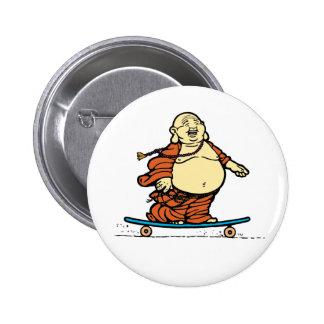 Buddha Skater Button