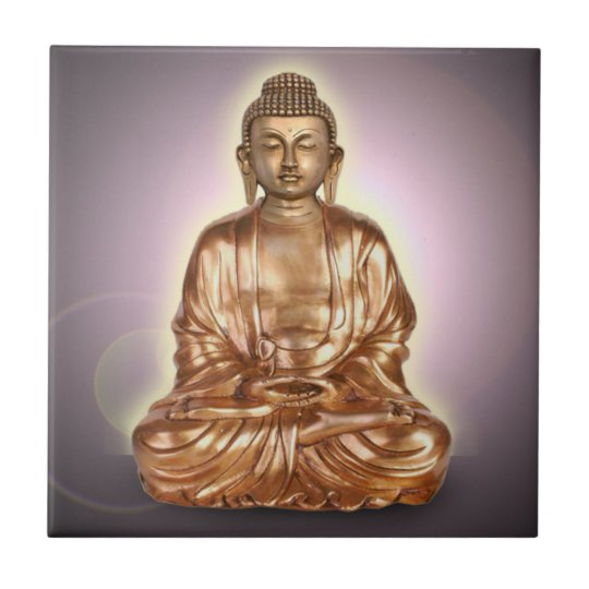Buddha Small Square Tile