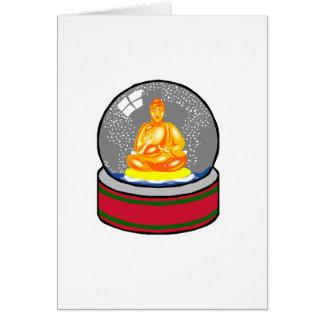 Buddha Snow Globe Card