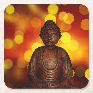 Buddha Square Paper Coaster