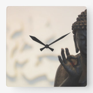Buddha Square Wall Clock