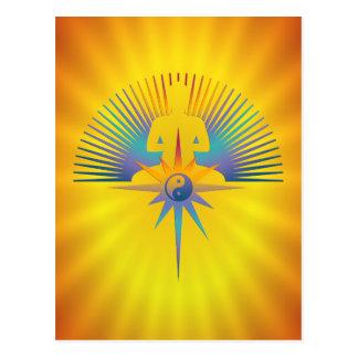 Buddha Star 3D Postcard