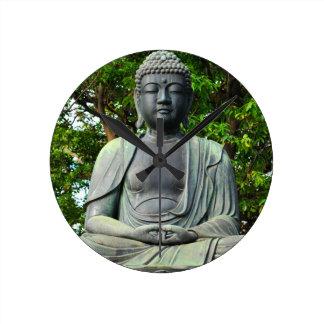Buddha statue in Tokyo, Japan Round Clock
