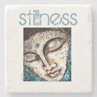 Buddha Stillness Watercolor Stone Coaster
