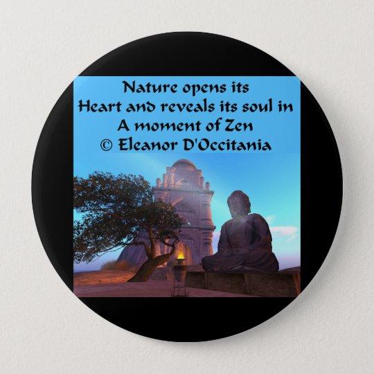 Buddha Temple Zen Haiku - Huge 4 Inch