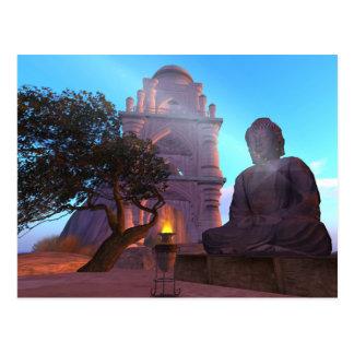 Buddha Temple Zen Haiku Postcard