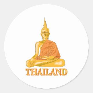 Buddha Thailand Round Sticker