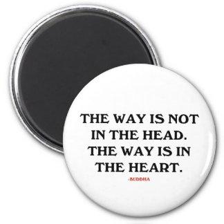 Buddha: The Way 6 Cm Round Magnet