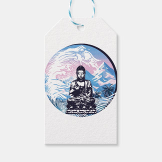 Buddha Tropical Mountain Wave Gift Tags