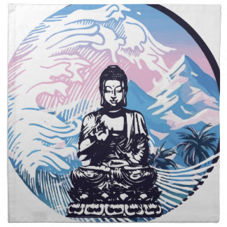 Buddha Tropical Mountain Wave Napkin