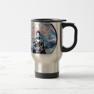 Buddha Tropical Mountain Wave Travel Mug