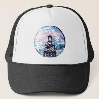 Buddha Tropical Mountain Wave Trucker Hat