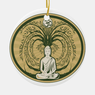 Buddha Under the Bodhi Tree Christmas Ornament