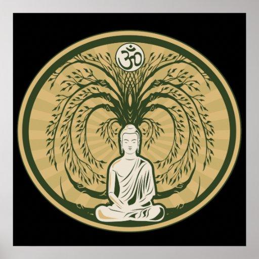 Buddha Under the Bodhi Tree Poster
