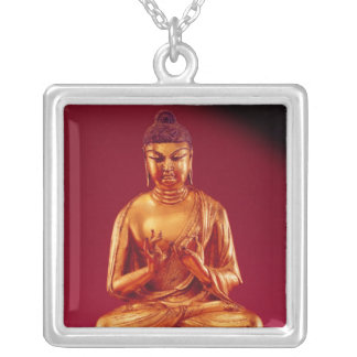 Buddha Vairocana , Tang dynasty Silver Plated Necklace