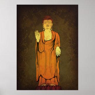 Buddha Vitarka Mudra Poster