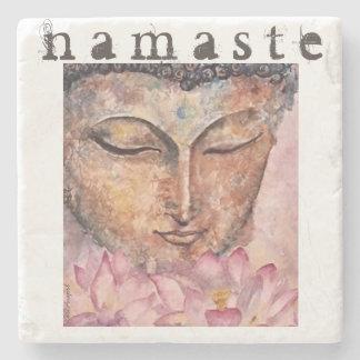 Buddha Watercolor Art Namaste Stone Coaster