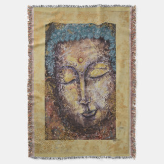 Buddha Watercolor Art Throw Blanket