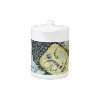 Buddha Watercolor Zen Tea Pot