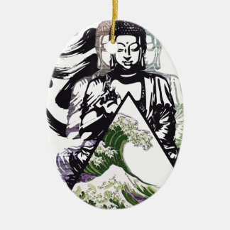 buddha wave 2 christmas ornament