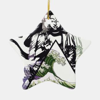 buddha wave 2 christmas ornament