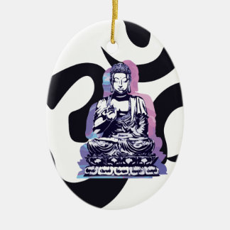 buddha wave 3 christmas ornament