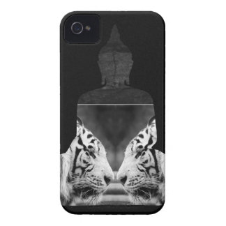 Buddha White Tiger iPhone 4s Case