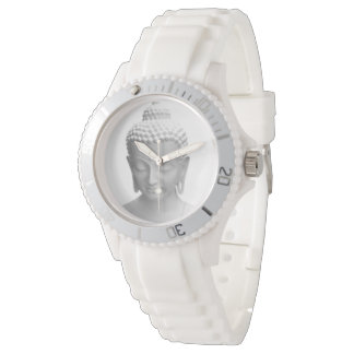 Buddha white wrist watch