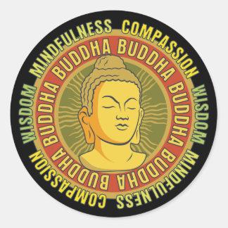 Buddha Wisdom Classic Round Sticker