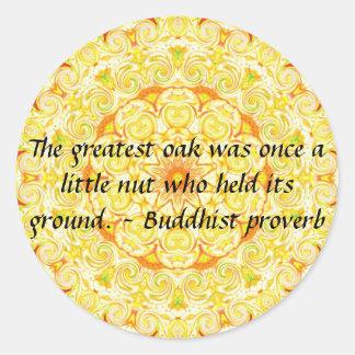 Buddha wisdom quote inspirational motivate round sticker