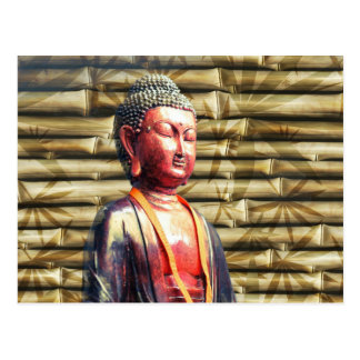 Buddha with Bamboo Postcard
