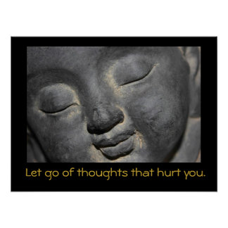 Buddha with Inspiring Quote Poster