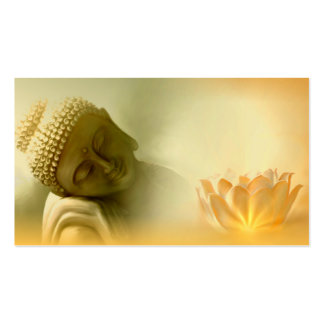 Buddha with Lotus buisness card Business Card