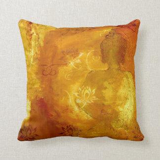 Buddha with Lotus Throw Pillow