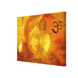 Buddha with Om and Lotosflowers Gallery Wrapped Canvas
