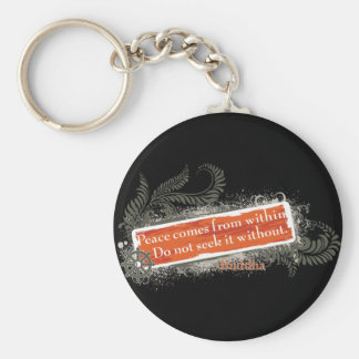 Buddha Within and Without Key Ring