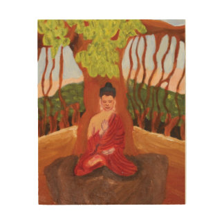 BUDDHA WOOD CANVAS