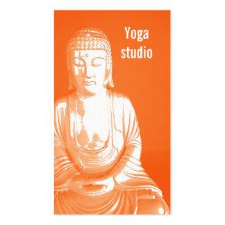 Buddha yoga meditation studio pack of standard business cards