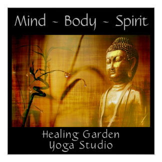 Buddha Yoga Studio Poster Customize