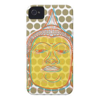 Buddha Zen Modern Pop Dots iPhone 4 CaseMate iPhone 4 Covers