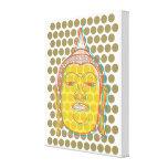 Buddha Zen Modern Pop Dots Wrapped Canvas Stretched Canvas Print