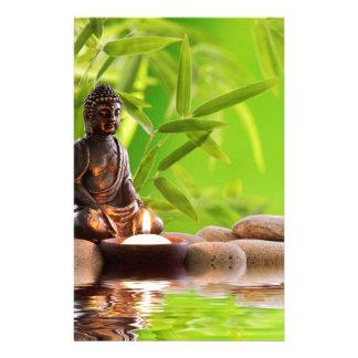 buddha zen serenity garden customized stationery