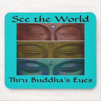 Buddha's eyes Mousepad