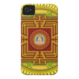Buddha's Golden Puzzle Box Circular Mandala Design iPhone 4 Covers