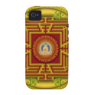 Buddha's Golden Puzzle Box Circular Mandala Design Case-Mate iPhone 4 Covers