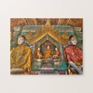 Buddhas In A Temple Jigsaw Puzzle