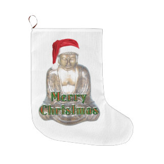 Buddhism - Buddha - Merry Christmas Large Christmas Stocking